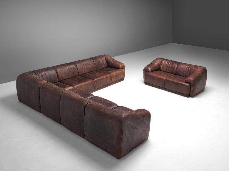 De Sede Modular Lounge Set In Dark Brown Buffalo Leather Circa 1970 In 2020 Modular Lounges Modern Sofa Sectional Brown Leather Sofa