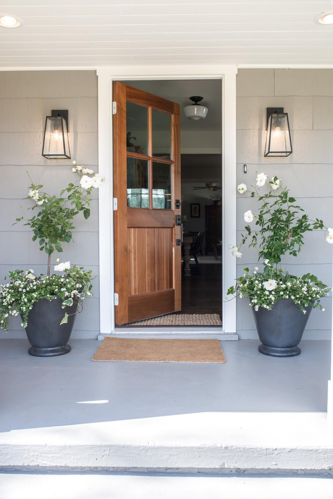 Episode 5: Season 5 in 2019 | Fixer Upper | House front door ... on front step lighting, front step boxes, front step fences, front step walkways, front step figurines, front step benches, front step lanterns, front step decks, front step pavers, front step landscaping, front step garden, front step flowers,