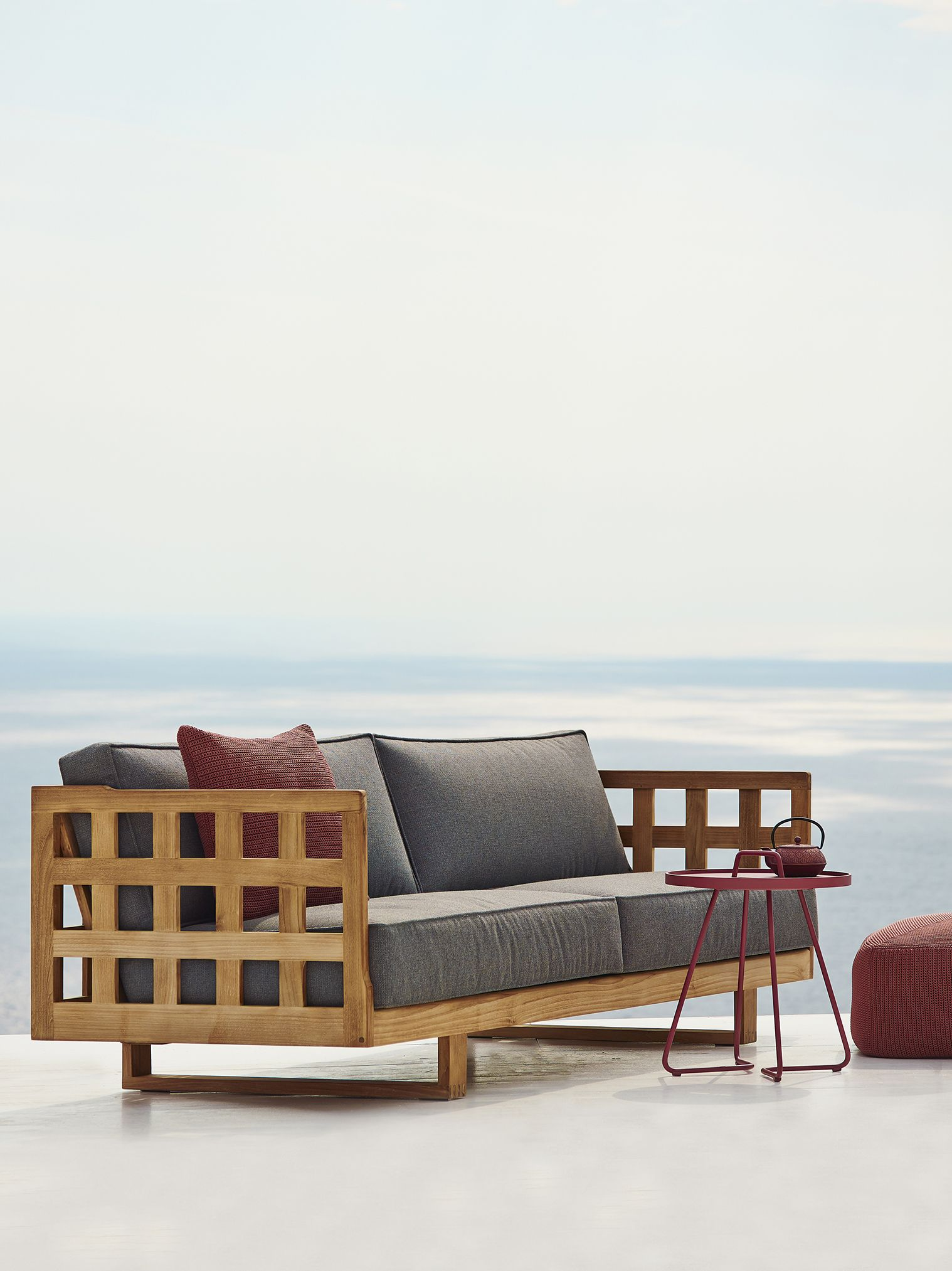 Square Lounge Collection In Teak By Cane Line