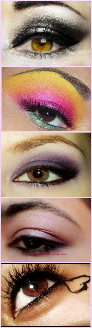 Eye makeup for brown eyes. I really like the first one