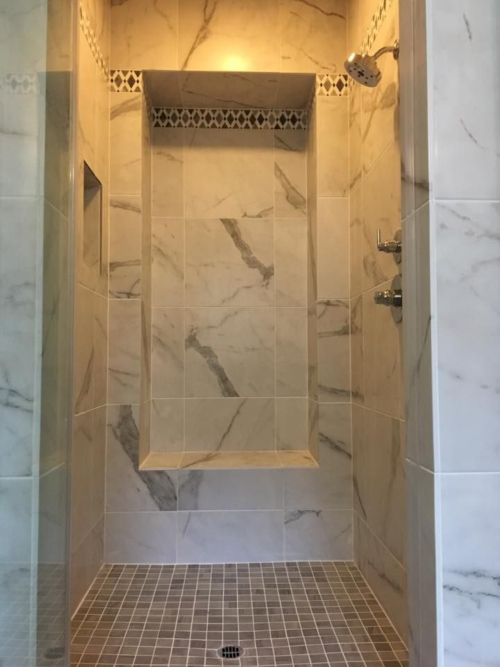 Master Bath Walk In Shower In Irvine Completed We Used A Large