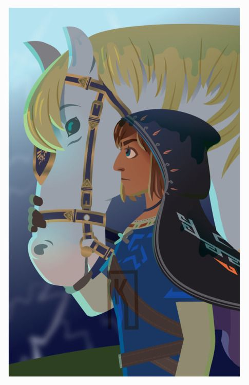 Link botw royal white horse patience drawing | The Legend of