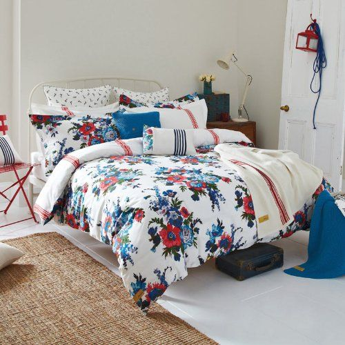 Joules Bedding, Amelie Double Duvet Cover, Multi-Coloured: Amazon.co.uk: Kitchen & Home