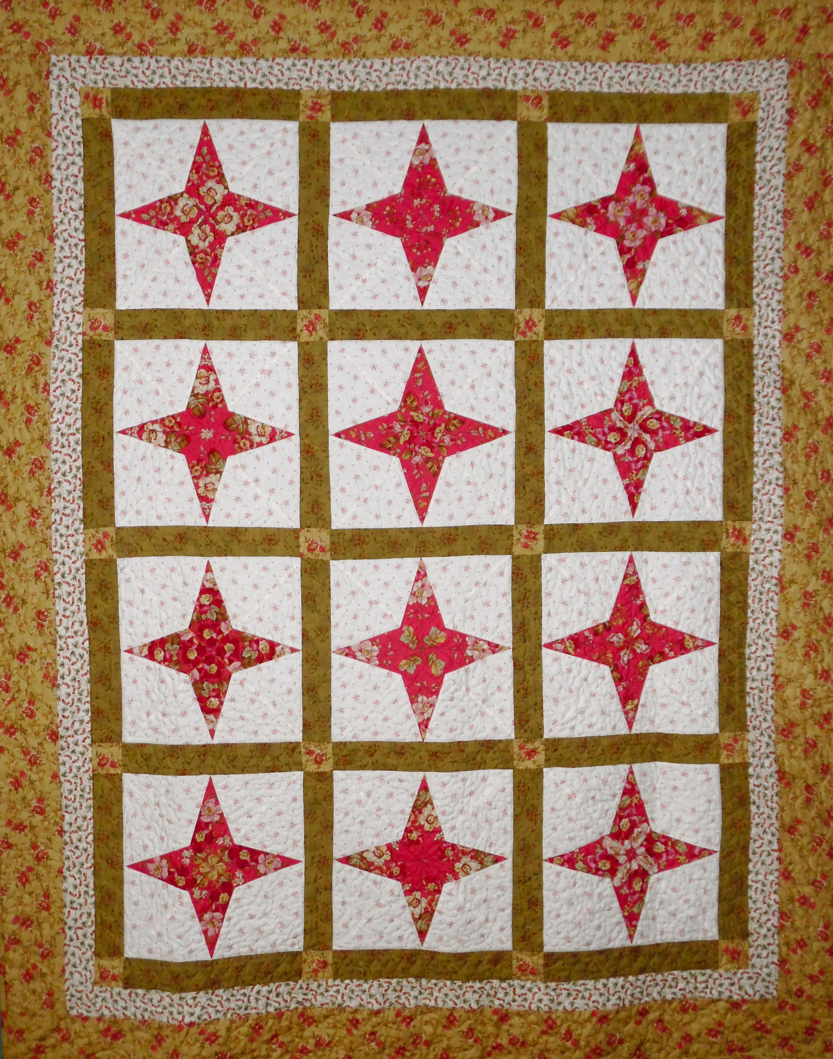 periwinkle quilt made quick and easy with periwinkle template set