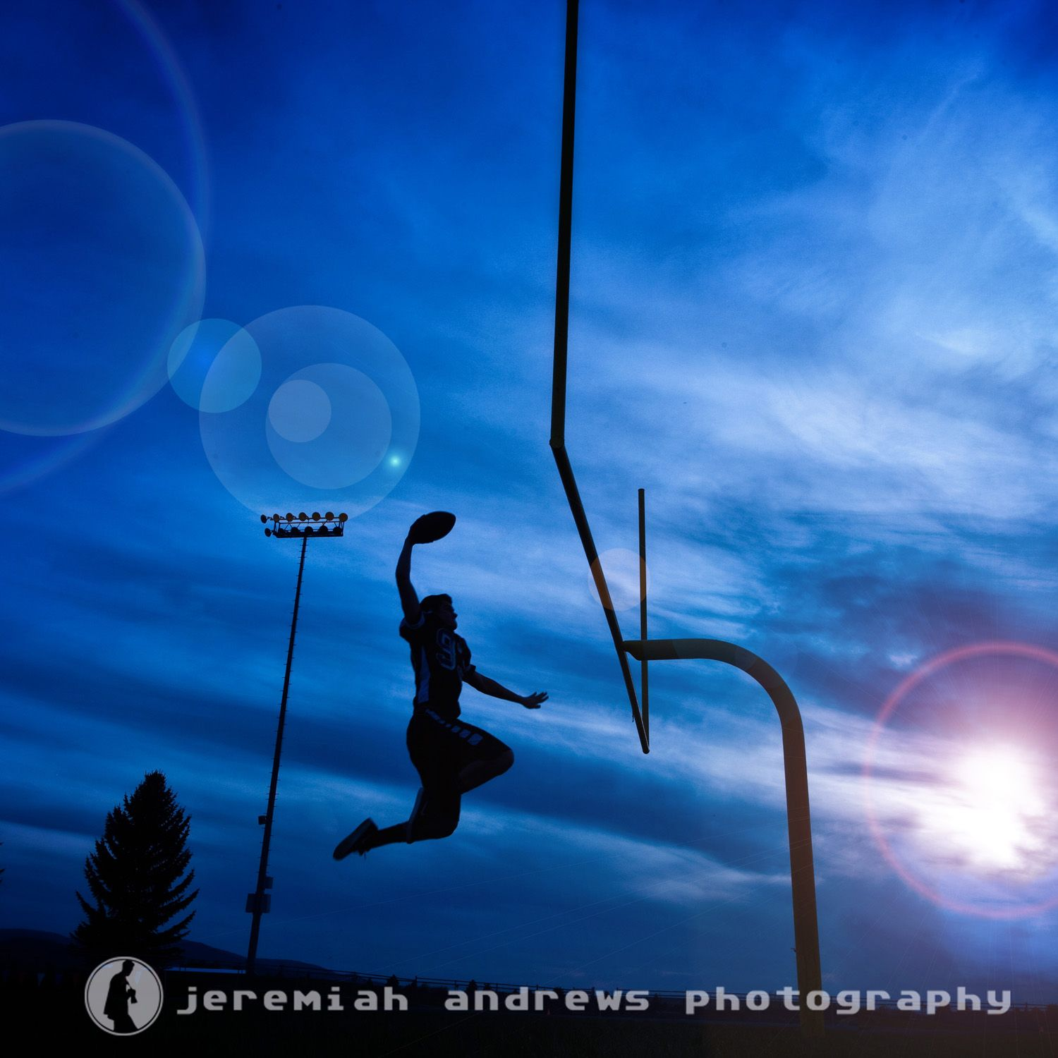 Football senior portraits for Coeur d'Alene High School Senior, Outside the box Senior Photo by Jeremiah Andrews Photography http://www.jeremiahandrews.com/image-galleries/high-school-seniors