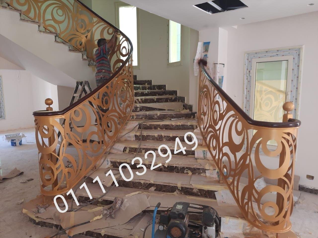 درابزين حديد قص ليزر من تنفيذنا بالاسماعليه Stairs Home Decor