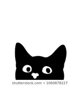 Cat Head Silhouette Images Stock Photos Vectors Shutterstock Black Cat Silhouette Cat Silhouette Black Cat Pictures