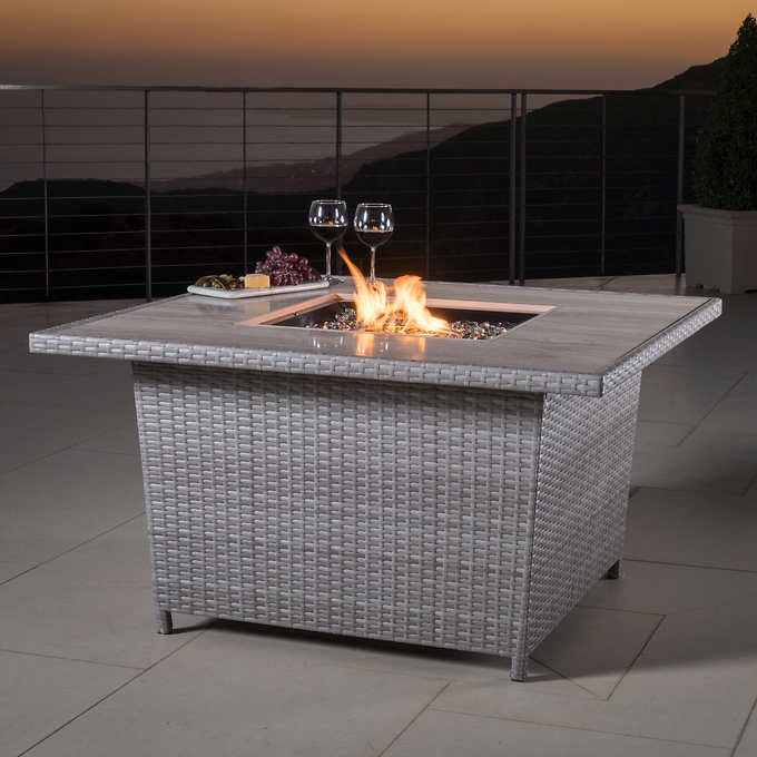 Portofino Comfort™ Laguna Blue Propane Fire Pit Table
