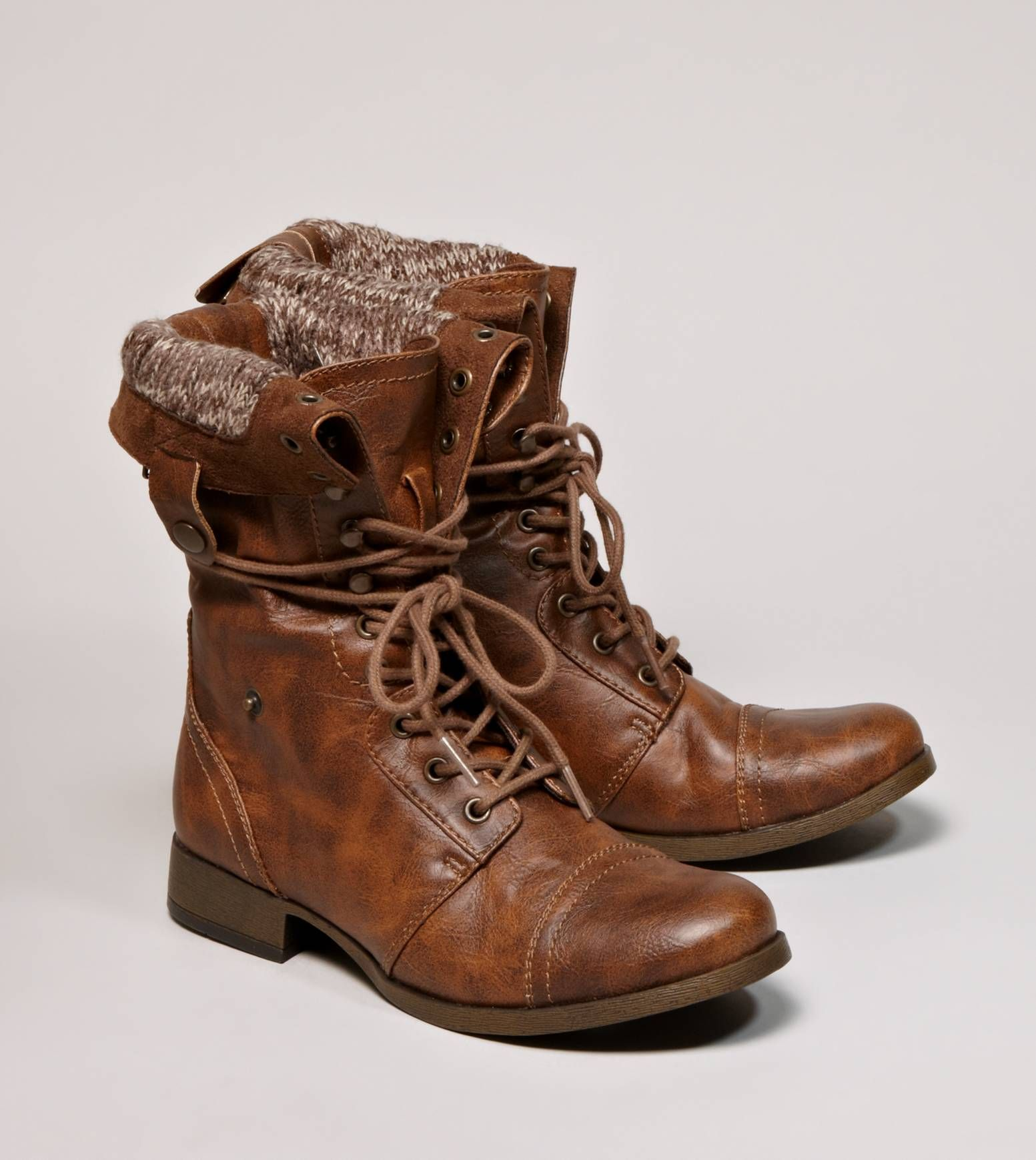 AE lace up boots, so cute have a red zipper in the back. LOVE THEM ...