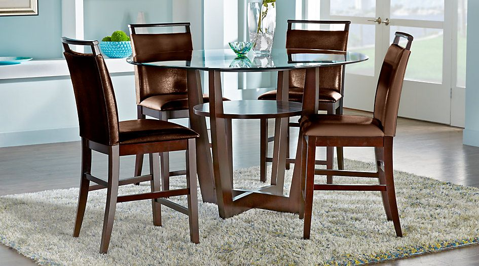 Ciara Espresso 5 Pc Counter Height Dining Set 3750Find Best Espresso Dining Room Table Sets Inspiration