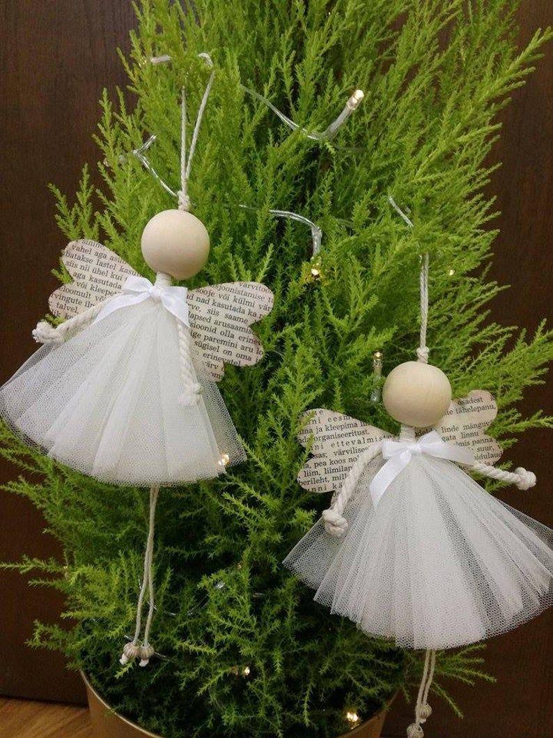 Engel romantische Weihnachtsdekoration Holz handgefertigte Ornament