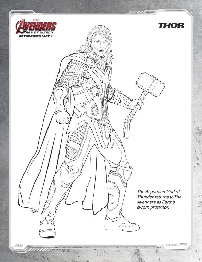 Disegni Da Colorare Degli Avengers Thor Blogmamma It Blogmamma It