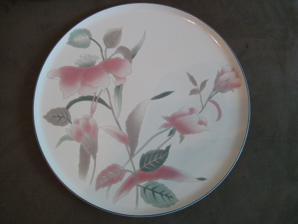 Mikasa Silk Flowers Cake Platter Plate FX003 #Mikasa & Mikasa Silk Flowers Cake Platter Plate FX003 #Mikasa   Ceramic ...