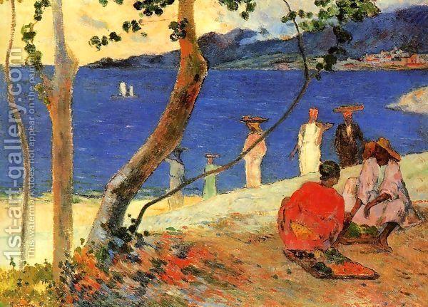 Seashore Martinique Paul Gauguin Beach Scenes Landscape