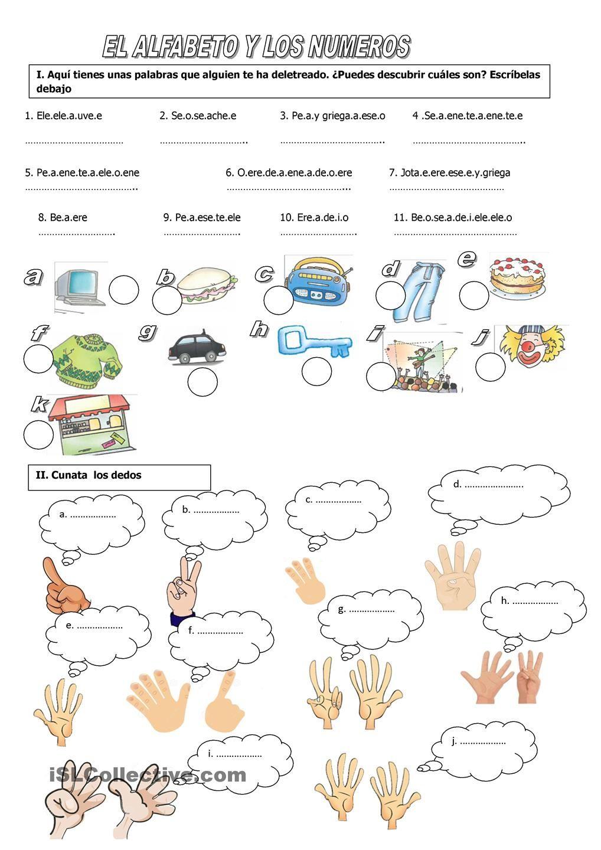 Worksheets Los Numeros En Espanol Worksheet el abecedario y los numeros vocabulario pinterest numbers numeros