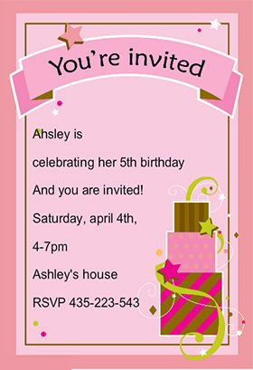 Girl fun birthday printable invitation customize add text and here we are sharing for a birthday party special invitation cards for kids family girls and boys birthday party cards with your images and message bookmarktalkfo Image collections