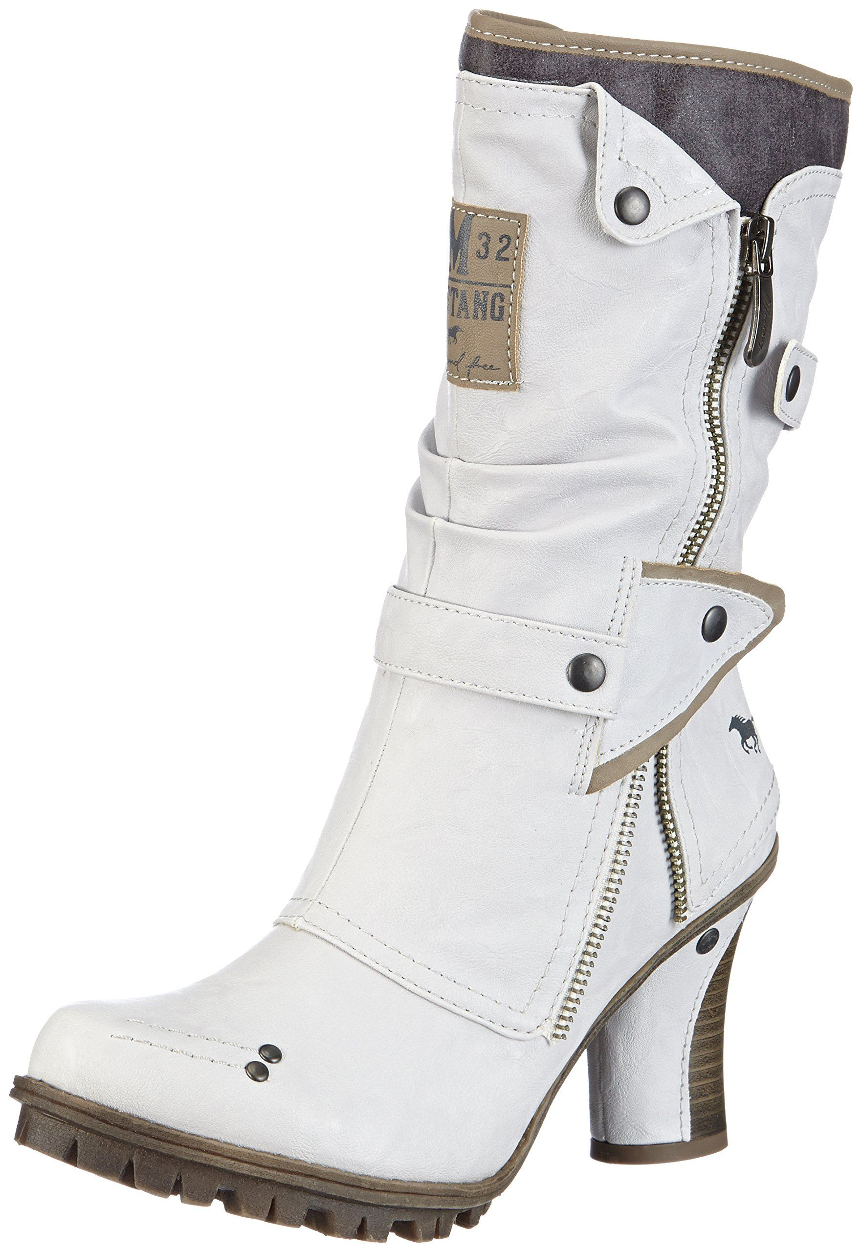 Mustang Damen Halbschaft Stiefel: : Schuhe