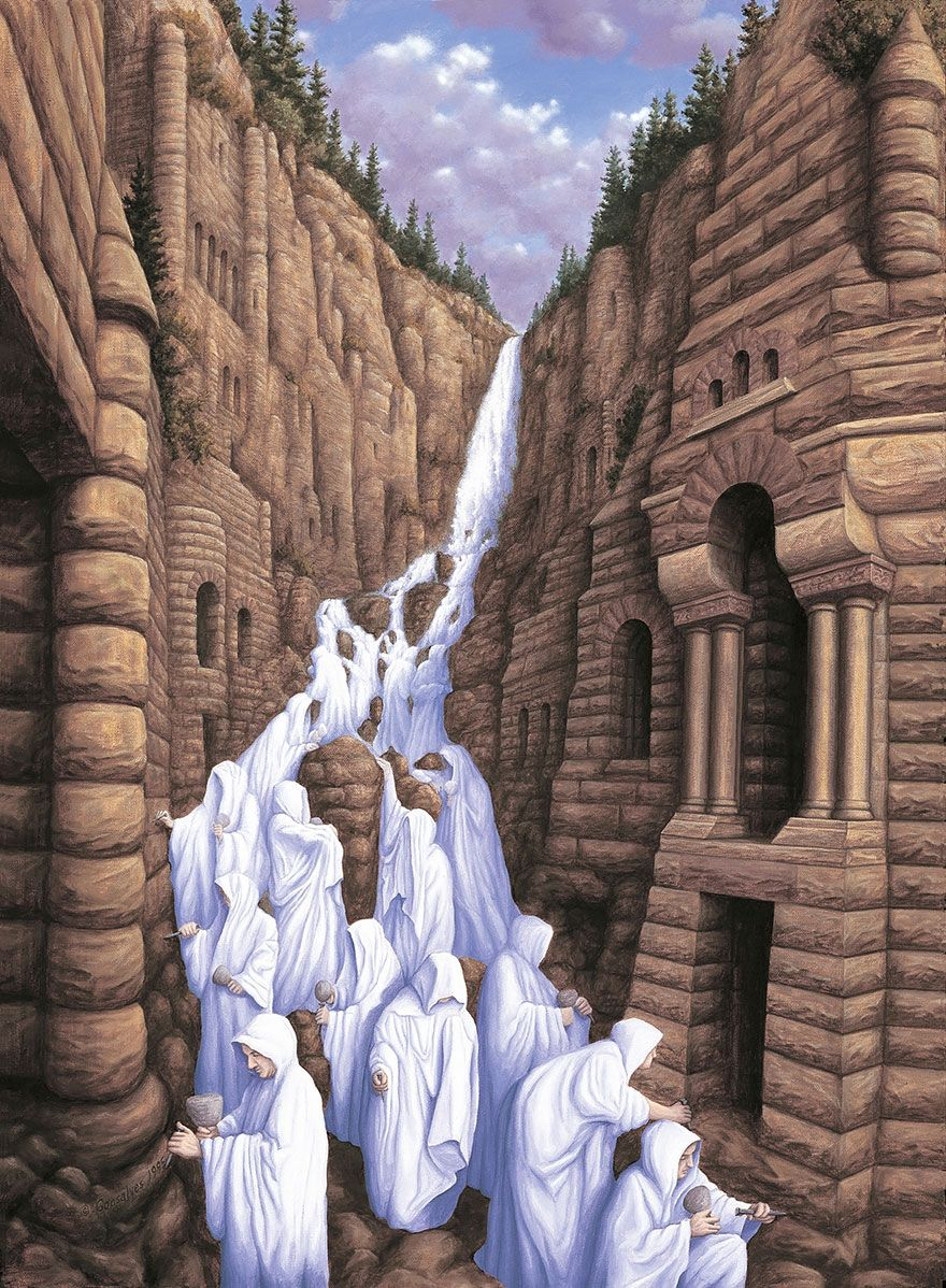 25 MindTwisting Optical Illusion Paintings By Rob Gonsalves