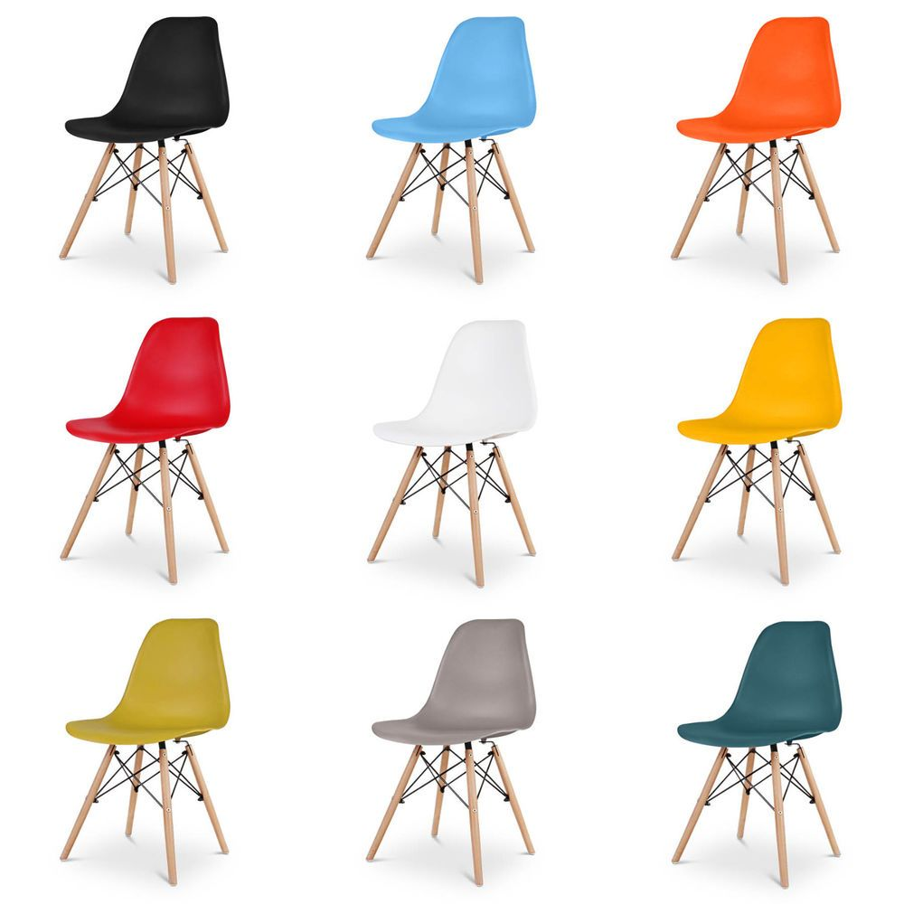 Gr8 Home 4 Eiffel Retro Plastic Dining Table Office Lounge Chair Panton Seat Set