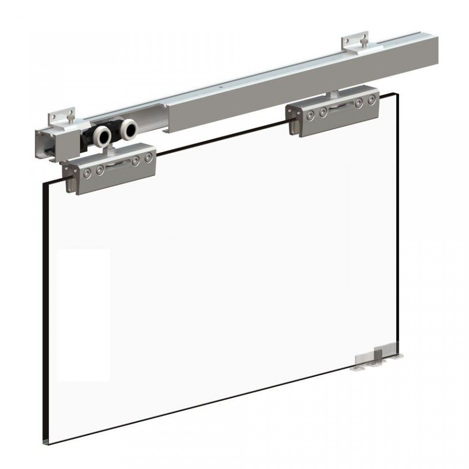 Sliding Door Gear System For 8 12mm Thick Glass Doors Up To 100kg In Weight Sliding Glass Door Glass Door Sliding Doors