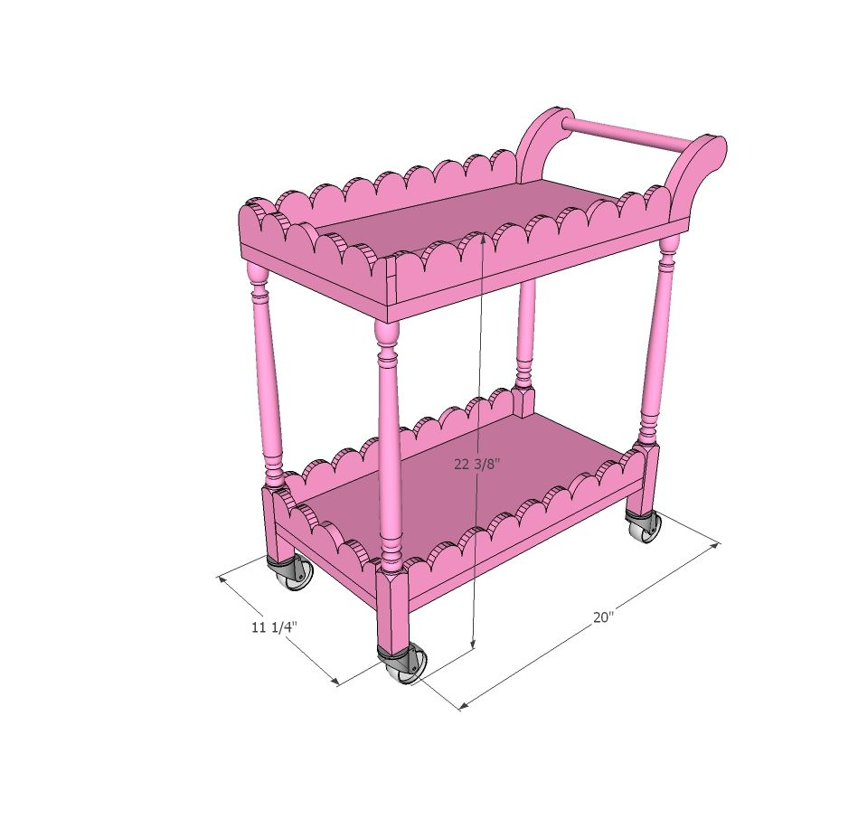 Ana White | Kids Tea Cart - DIY Projects