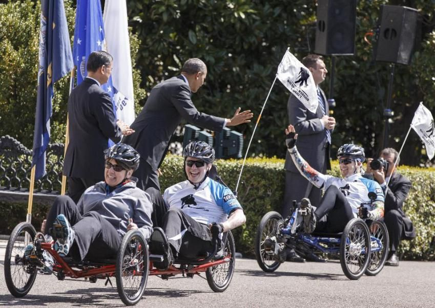 President Barack Obama the Wounded Warrior Project