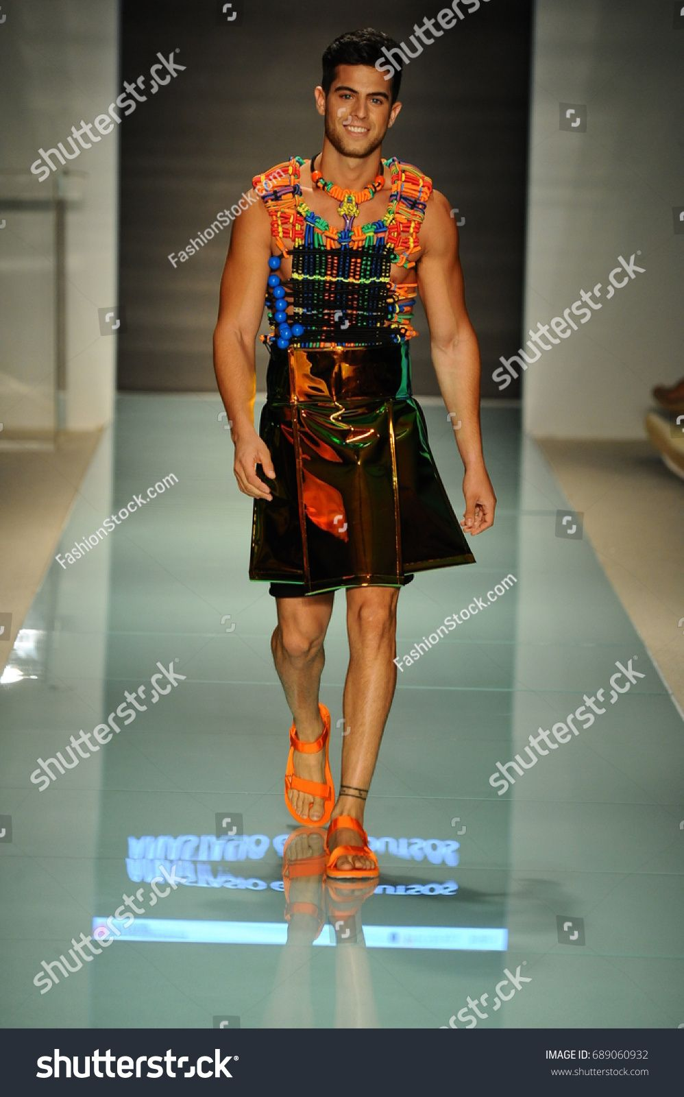 Miami Fl July 20 A Model Walks The Runway During The Miami International University Of Arts And Design Fashion Show During Funkshion 2017 At The Funkshion T