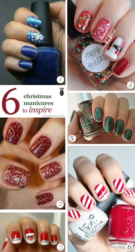 5 christmas nail art ideas nailart - Hot Designs Nail Art Ideas