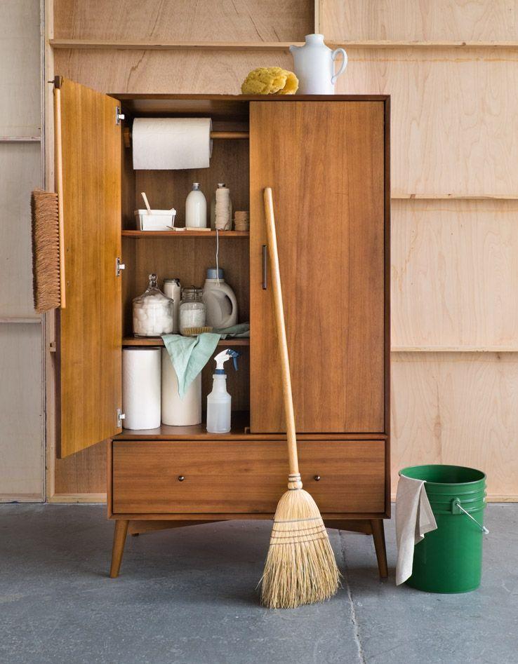 West Elm Alternate Wardrobe Uses Utility Closet Homestyle