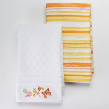 Sonoma Goods For Life 2 Pc Floral Geo Kitchen Towel Set