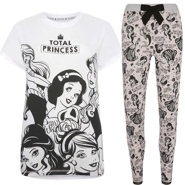 Ladies Disney Princess Pyjamas T-Shirt Pyjamas// Leggings Primark