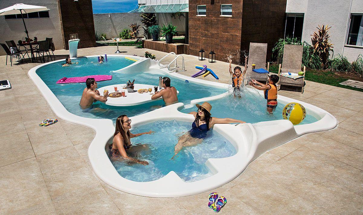 Piscina Baia Blanca Area Lazer With Images Outdoor Decor Pool