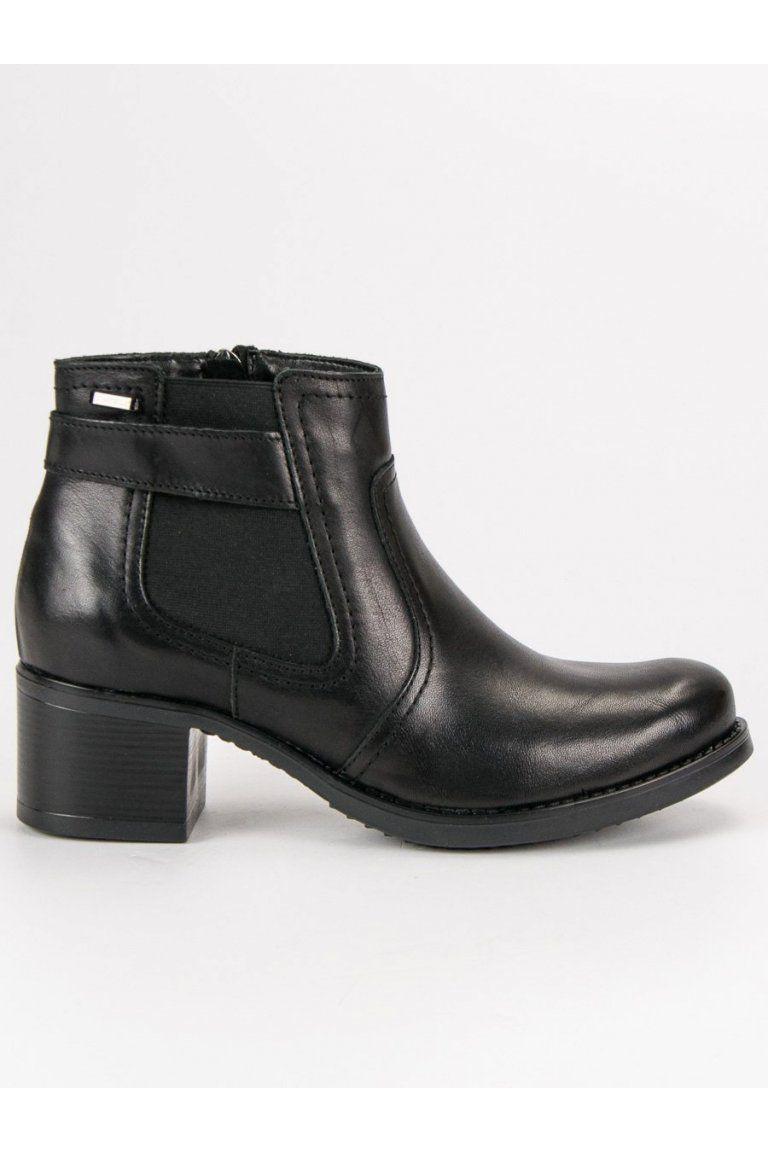 45ec2df1f0715 Dámske členkové topánky kožené pérka VINCEZA | Členkové čižmy - NAJ ...