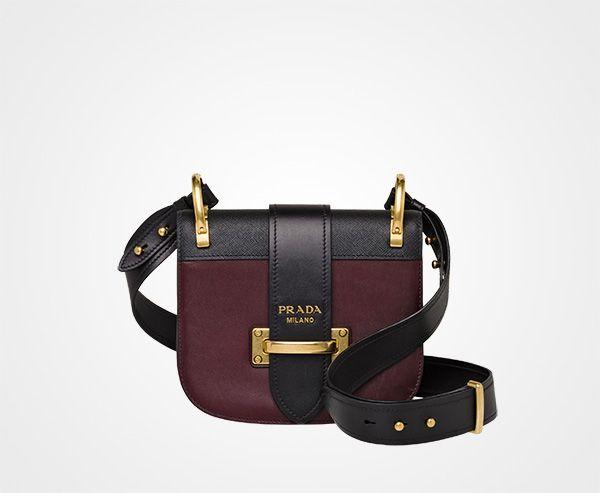 Pionnière Bag CORDOVAN+BLACK Prada  9786e79a489
