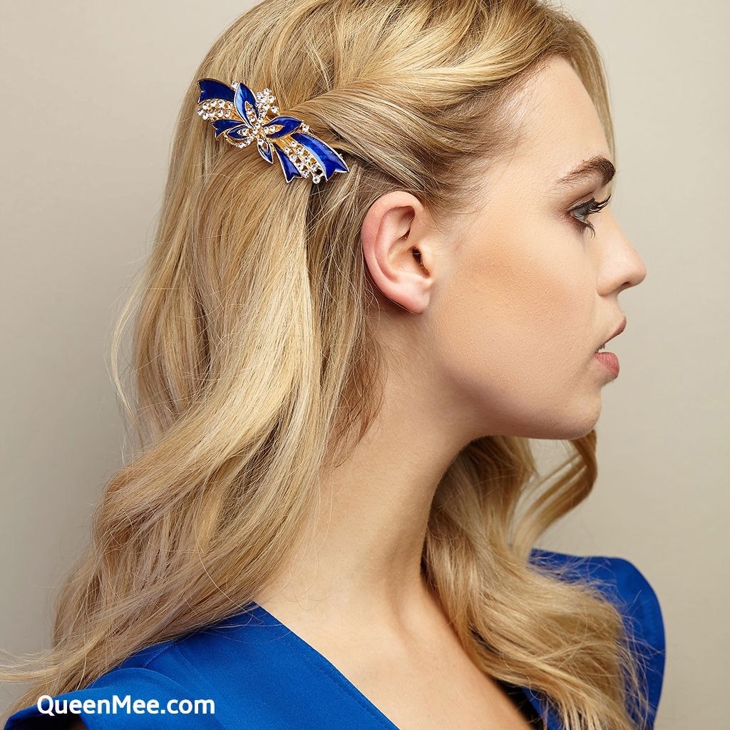 Vintage Hair Clips Are Gorgeous For Wedding Hair In Classic Colours Like Blue They Are Ideal For Wed Vintage Hair Clips Vintage Hairstyles Wedding Hair Clips