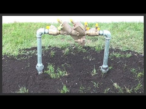 How To Replace A Lawn Sprinkler Backflow Preventer Youtube Lawn Sprinklers Sprinkler Sprinkler System