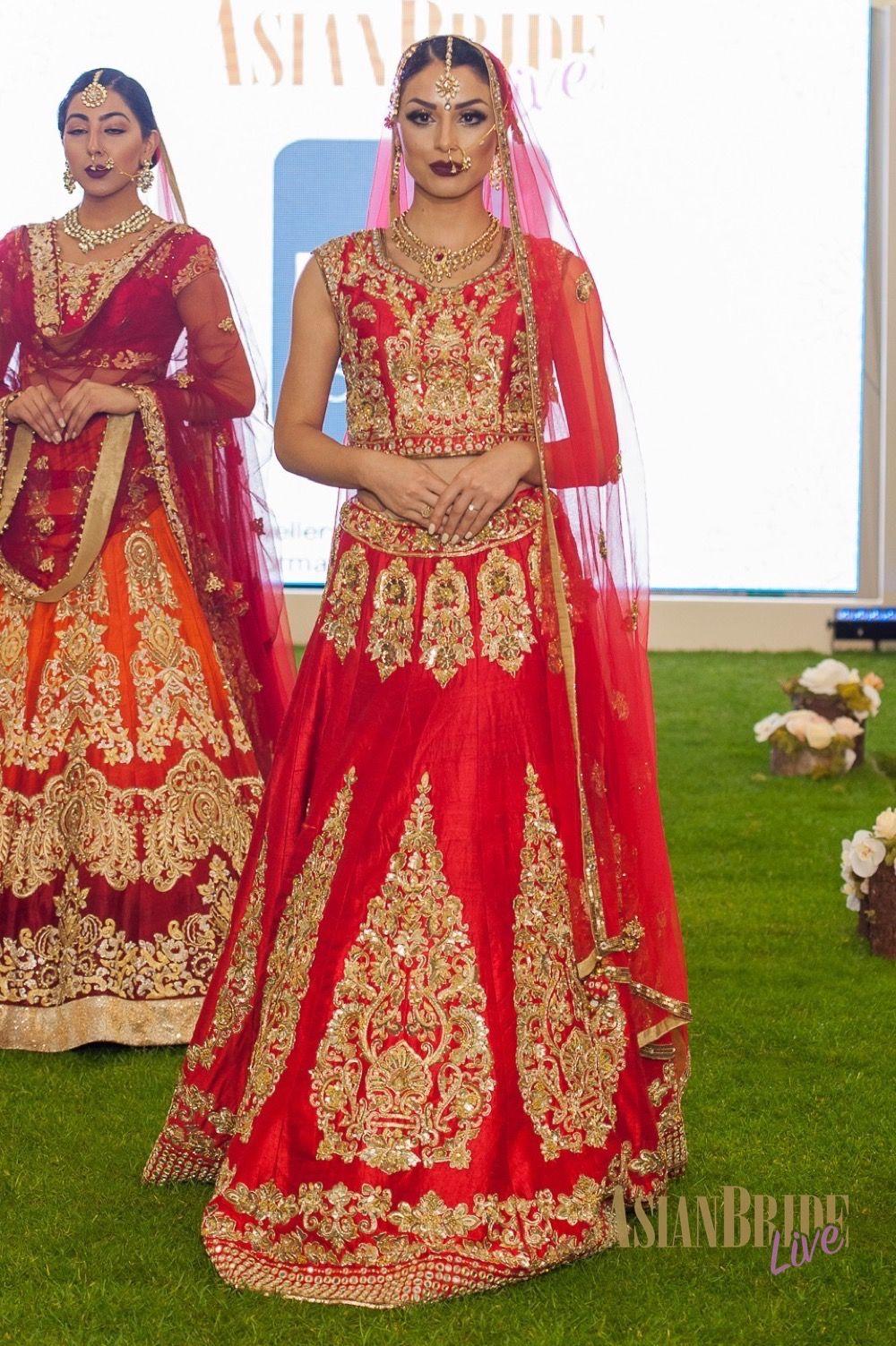 c5354a10186 Red   Gold Bridal Lengha Bibi London -INDIAN-PAKISTANI-WEDDING-FASHION