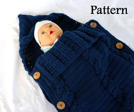 Baby Sleeper Pdf Crochet Pattern Infant Hooded Cocoon Instructions