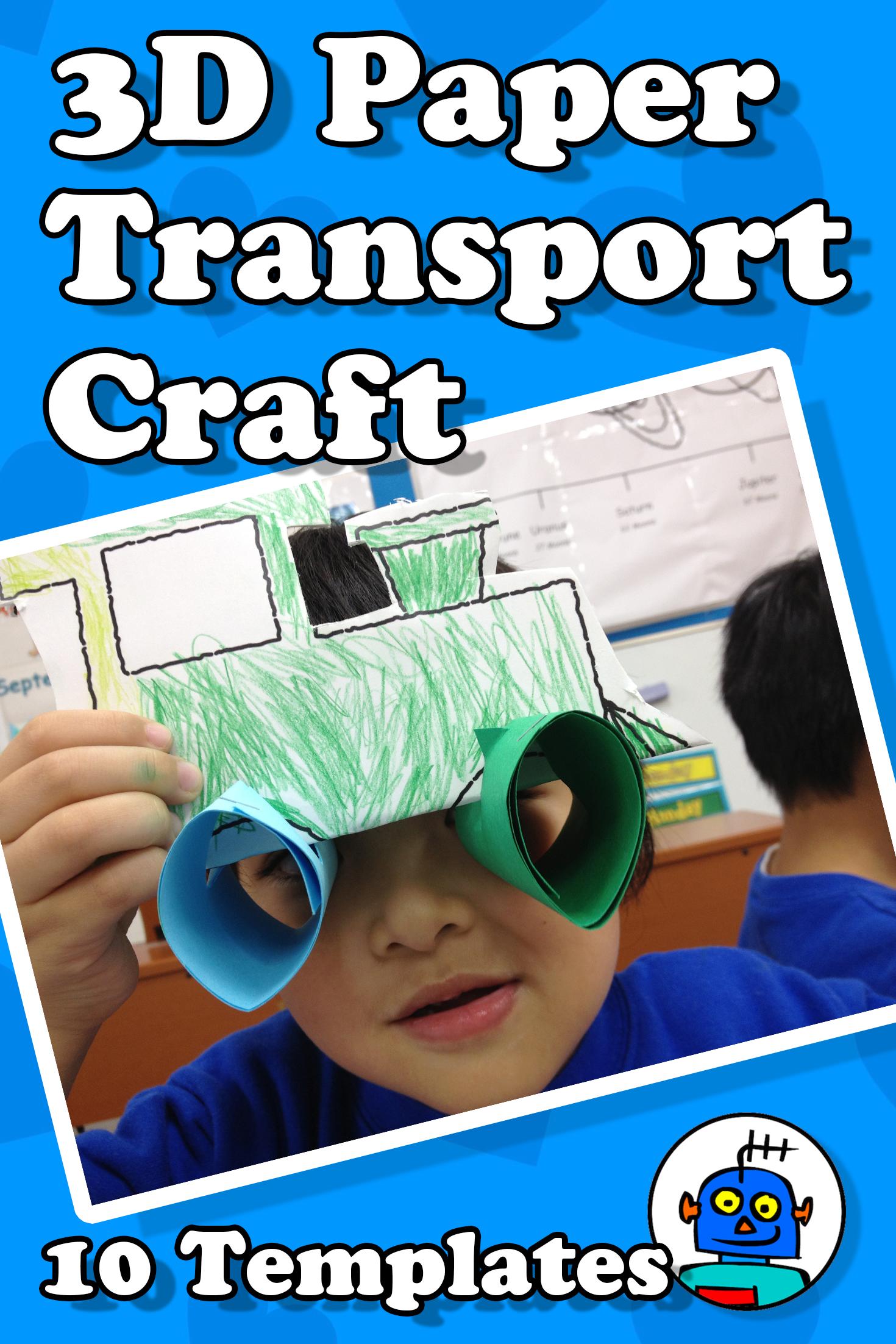 3d Paper Transport Craft