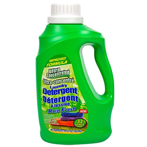 Ultra Concentrated Liquid Laundry Detergent Rain Fresh Scent 64 Oz