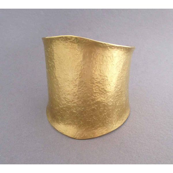 Wide Gold Cuff Bracelet In Hammered Br Ancient Egyptian Jewelry 89