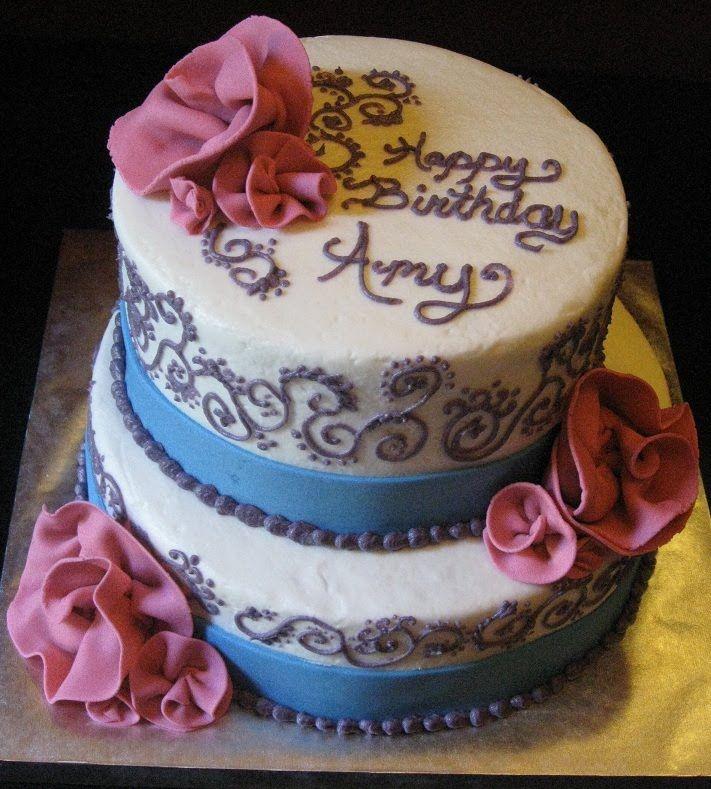 Beautiful Amy Birthday Cake Cake Desserts
