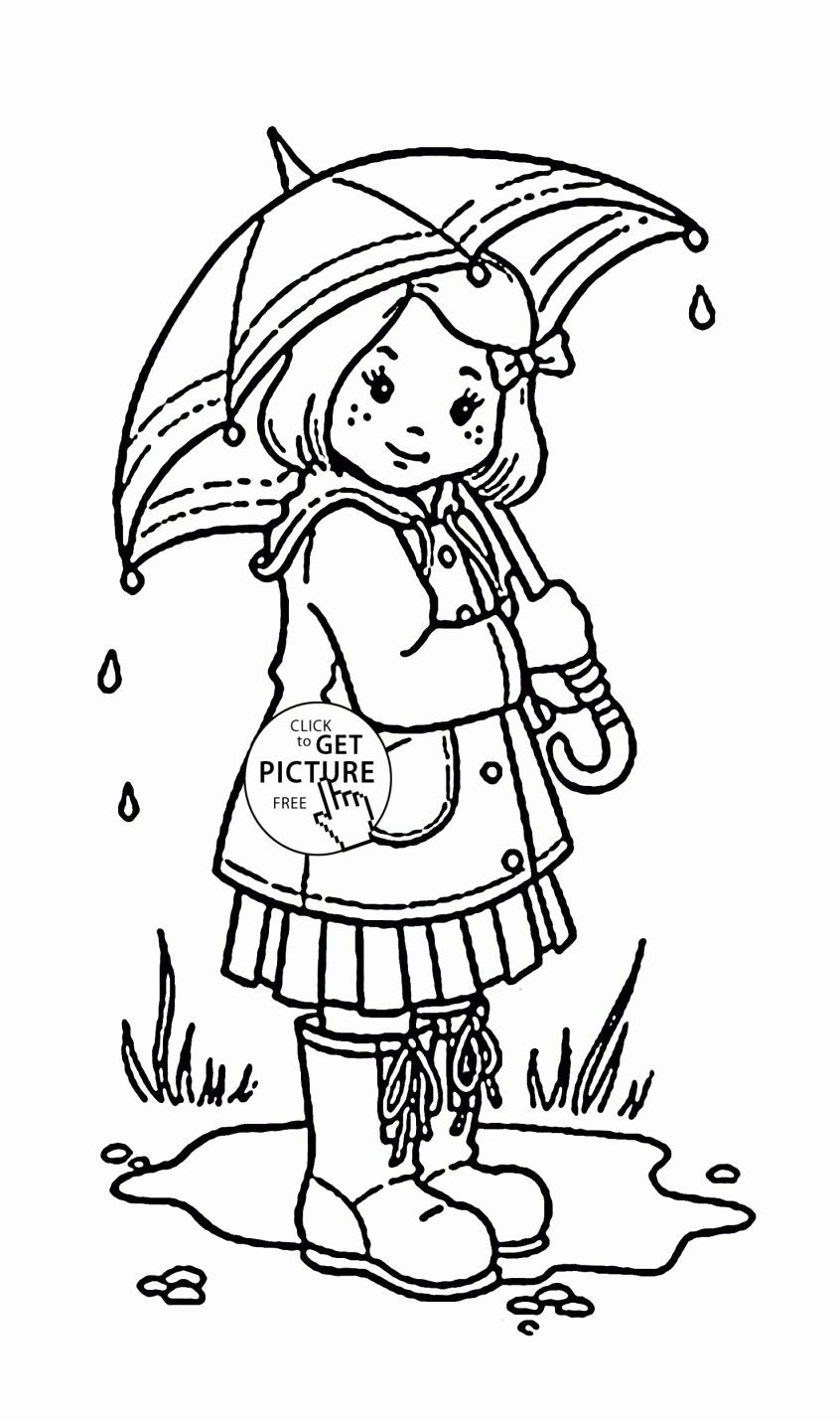 Number 45 Coloring Page Luxury Coloring Pages Girl And Umbrella