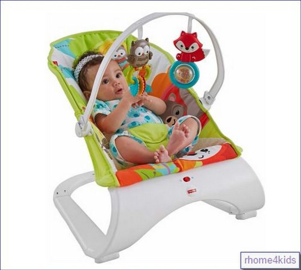 Bouncy chair baby - Fisher Price Toddler Toys Woodland Friends Comfort Curve New Baby Bouncer Chair