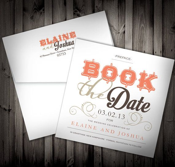 Book Lovers Library Themed Wedding Invitation Qty By Nimbidesign