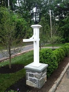 Light Post For Driveway Design Ideas Pictures Remodel And Decor Driveway Design Driveway Lighting Post Lights
