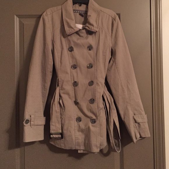 Kenneth Cole Reaction Coat Kenneth Cole Reaction Khaki Belted Trench Coat. Has been worn. Excellent condition. Will accept offers. Kenneth Cole Reaction Jackets & Coats Trench Coats