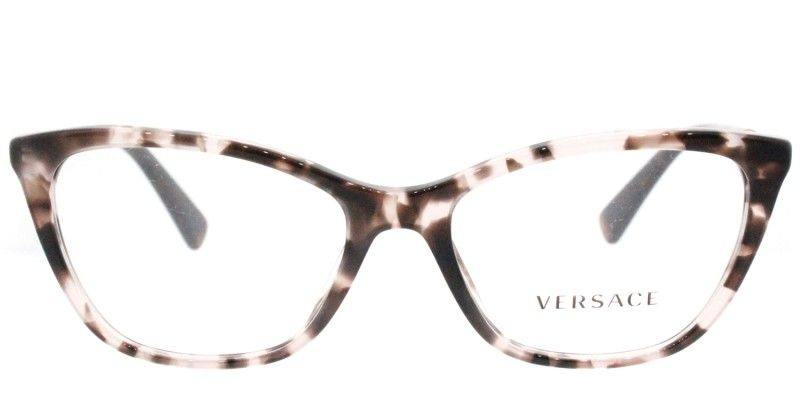 7b4ca311210 Versace VE 3248 5253 Pink Havana Cat-Eye Plastic Eyeglasses - 52mm ...