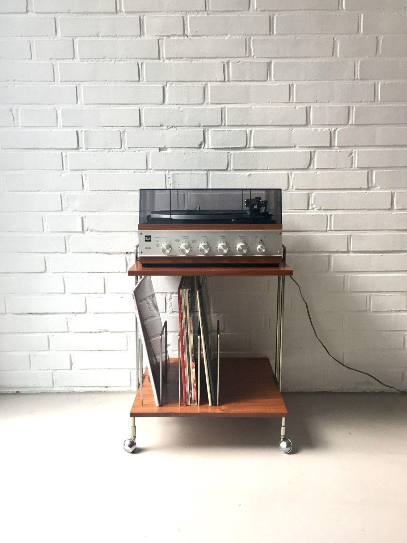 vintage vinyl tisch plattenst nder retro vintage. Black Bedroom Furniture Sets. Home Design Ideas