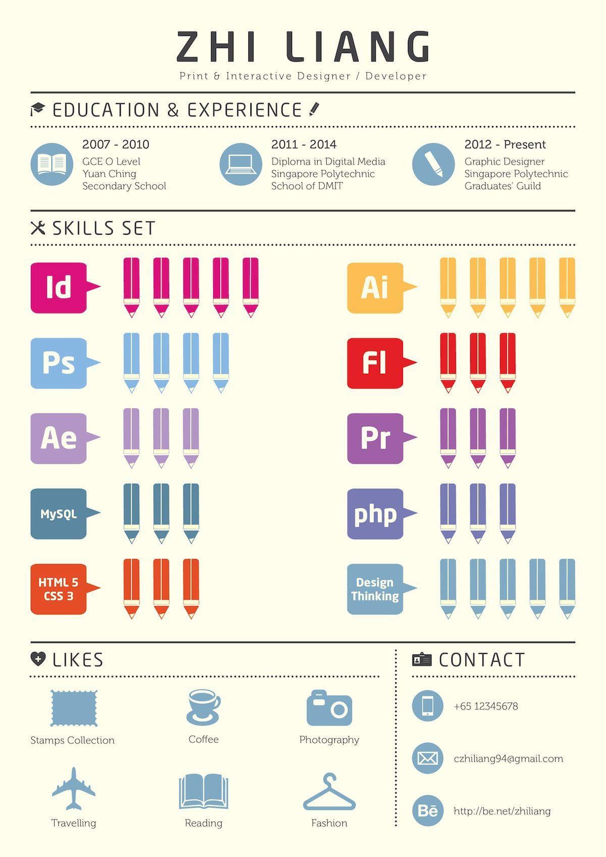 An infographic resume for self promotion. | CV | Pinterest